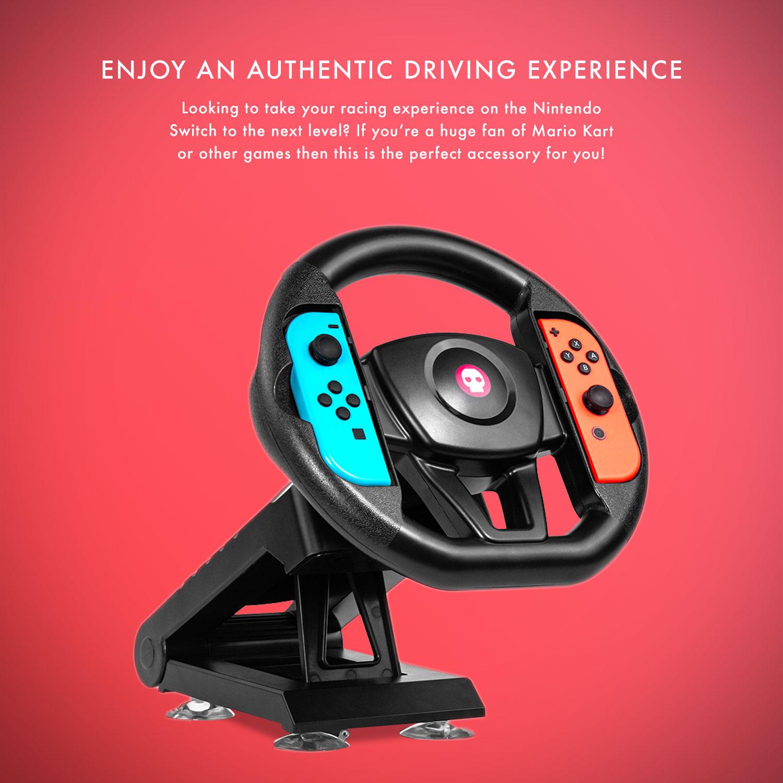 Numskull Nintendo Switch Joy Con Steering Wheel Table Attachment