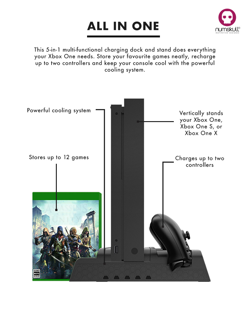 Numskull Xbox One Vertical 5 in 1 Stand